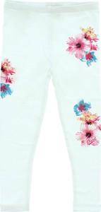 Niebieskie legginsy dziecięce Diesel w kwiatki