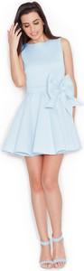 Niebieska sukienka Katrus bez rękawów mini