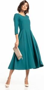 Zielona sukienka Tessita z długim rękawem