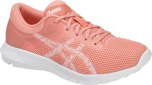 Różowe buty sportowe ASICS na koturnie sznurowane