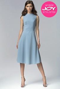 Sukienka NIFE rozkloszowana z bawełny midi