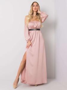 Różowa sukienka Sheandher.pl hiszpanka maxi