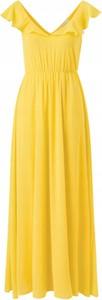 Sukienka Vila rozkloszowana maxi z dekoltem w kształcie litery v