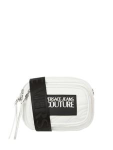 Torebka Versace Jeans pikowana z kolorowym paskiem na ramię