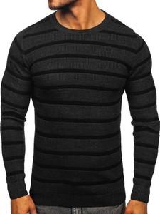 Czarny sweter Denley z dzianiny