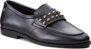 Półbuty TOMMY HILFIGER – Round Stud Loafer FW0FW03576 Tommy Navy 406
