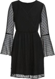 Sukienka bonprix BODYFLIRT w stylu glamour mini z okrągłym dekoltem