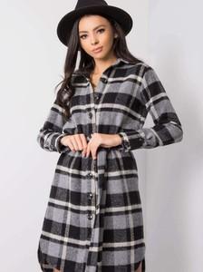 Sukienka Factory Price mini z kołnierzykiem z długim rękawem