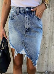 Niebieska spódnica Cikelly mini