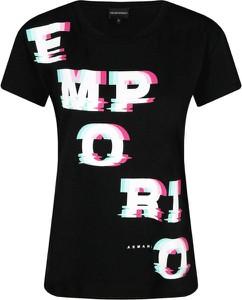 T-shirt Emporio Armani z okrągłym dekoltem z nadrukiem z krótkim rękawem