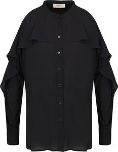 Czarna koszula Twinset z jedwabiu