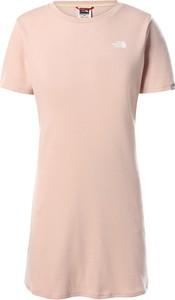 Sukienka The North Face z okrągłym dekoltem mini z bawełny