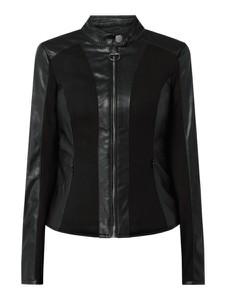 Czarna kurtka Guess w rockowym stylu ze skóry ekologicznej