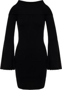 Czarna sukienka My Twin w stylu casual mini