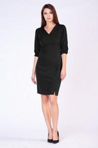 Czarna sukienka butik-choice.pl z długim rękawem