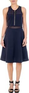 Niebieska sukienka Armani Exchange rozkloszowana