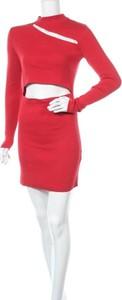 Czerwona sukienka Milk It w stylu casual z golfem mini
