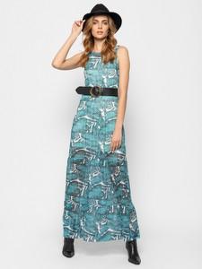 Sukienka Guess prosta w stylu casual z okrągłym dekoltem