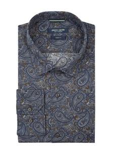 Niebieska koszula Pierre Cardin z klasycznym kołnierzykiem