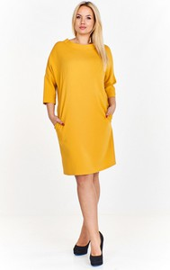 Sukienka Monariss z okrągłym dekoltem midi