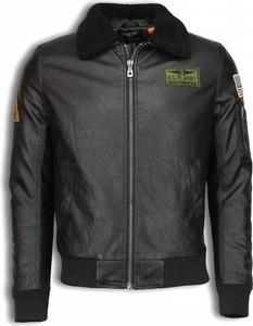 Czarna kurtka ENOS krótka ze skóry