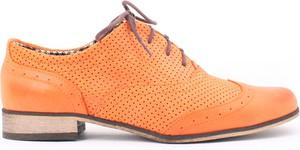 Zapato jazzówki dziurkowane - skóra naturalna - model 246 mix - kolor dynia