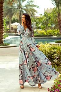 Sukienka Emo Sukienki w stylu casual z długim rękawem z satyny