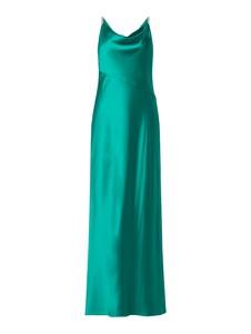 Zielona sukienka Ralph Lauren z satyny na ramiączkach maxi