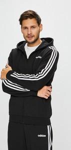 Czarna bluza Adidas Performance z bawełny
