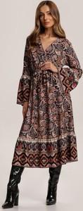 Brązowa sukienka Renee midi