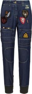 Niebieskie spodnie Aeronautica Militare w militarnym stylu