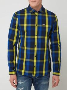 Niebieska koszula Tommy Jeans w stylu casual z bawełny z długim rękawem