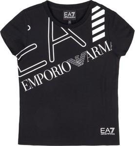 Czarna koszulka dziecięca EA7 Emporio Armani