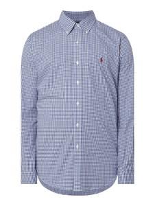 Granatowa koszula POLO RALPH LAUREN z kołnierzykiem button down z długim rękawem