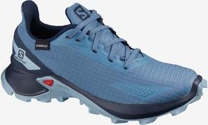 Niebieskie buty sportowe dziecięce Salomon sznurowane