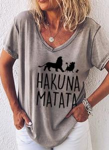 T-shirt Sandbella z bawełny z krótkim rękawem