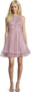 Sukienka Vera Mont mini z okrągłym dekoltem