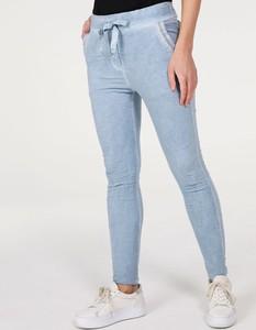 Jeansy Unisono w stylu casual z tkaniny