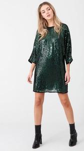 Zielona sukienka River Island mini z długim rękawem