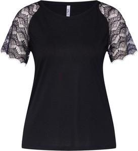 Czarna bluzka Haily's z okrągłym dekoltem