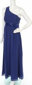 Niebieska sukienka Mia Suri maxi bez rękawów