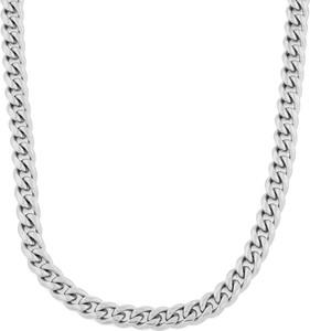 Trendhim Łańcuszkowy naszyjnik w srebrnym tonie 10 mm
