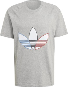 T-shirt Adidas z bawełny z krótkim rękawem w sportowym stylu