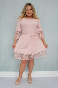 Sukienka KARKO rozkloszowana w stylu casual