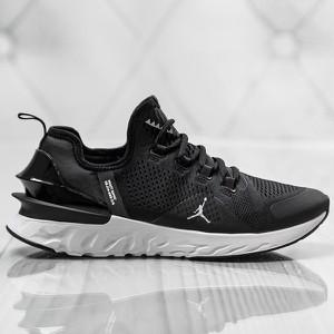 Czarne buty sportowe Sneakers sznurowane