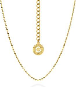 GIORRE SREBRNY ŁAŃCUSZEK Z KULEK SREBRO 925 : Długość (cm) - 55 + 5, Kolor pokrycia srebra - Pokrycie Żółtym 24K Złotem
