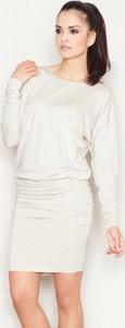 Sukienka Figl z długim rękawem z dzianiny z okrągłym dekoltem