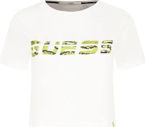 T-shirt Guess Active z okrągłym dekoltem z krótkim rękawem