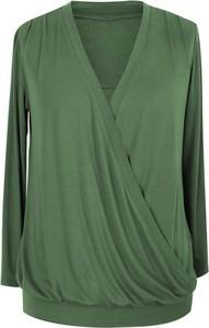 Zielona bluzka Sklep XL-ka z długim rękawem