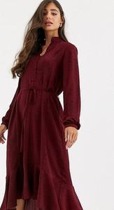 Fioletowa sukienka Y.a.s Tall maxi szmizjerka